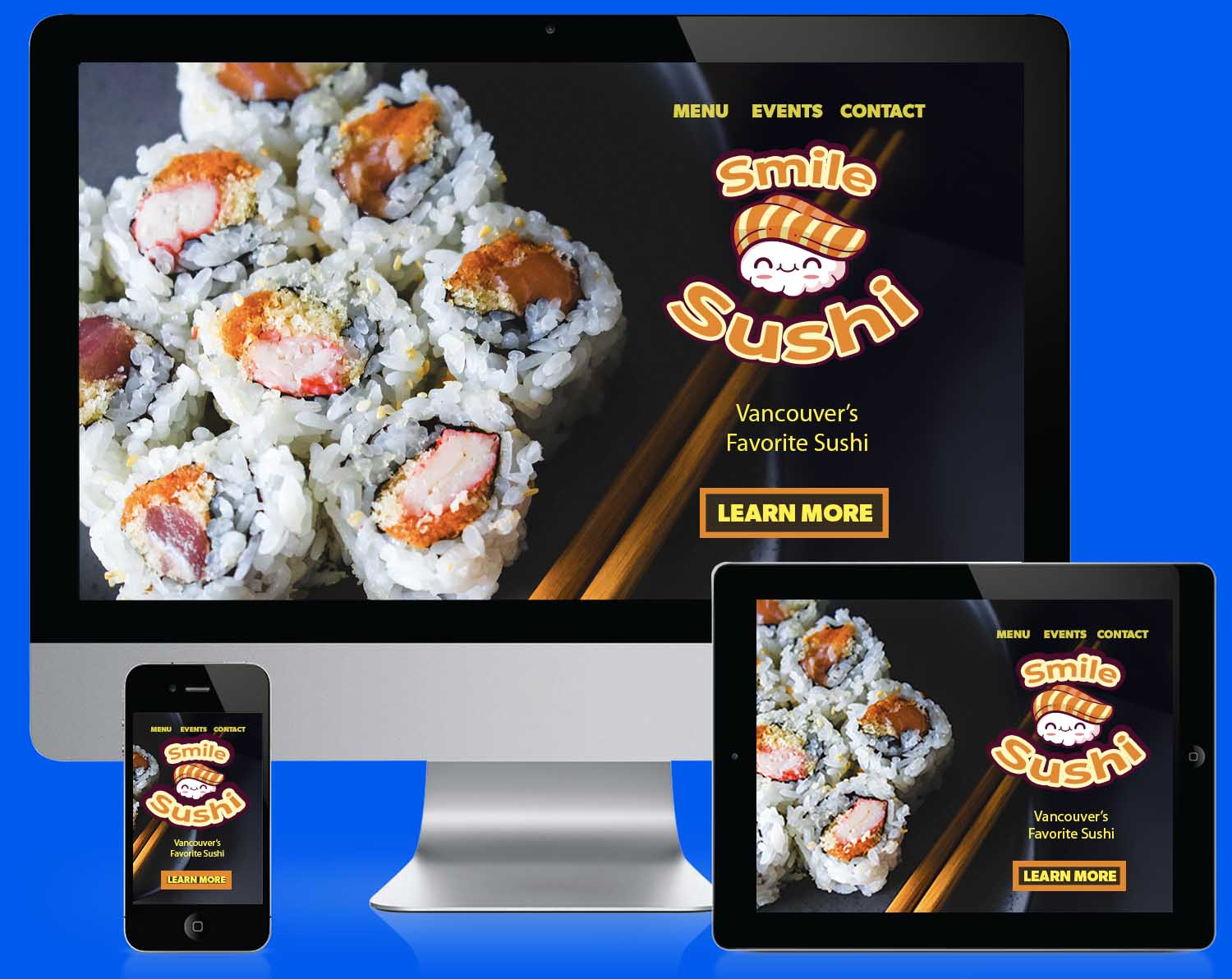 Free Web Design Templates Sushi Restaurant PSD template
